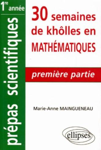 Mathématiques - 1re partie