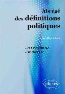 Abrégé des définitions politiques