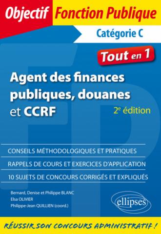 Agent des finances publiques, douanes et CCRF - Catégorie C - Tout-en-un - 2e édition