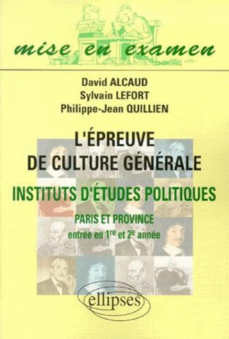 épreuve de culture générale IEP (Paris et Province) (L')