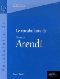 vocabulaire de Arendt (Le)