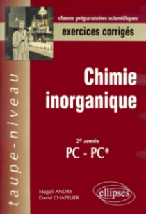 Chimie inorganique PC-PC*- Exercices corrigés
