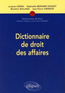Dictionnaire de droit des affaires