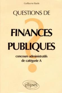 Questions de finances publiques
