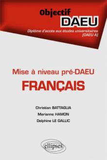 Mise à niveau pré-DAEU - Français - DAEU A