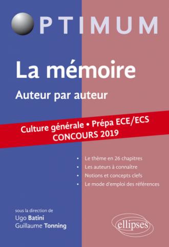 Thème  de culture générale. Auteur par auteur. Prépa ECE/ECS. Concours 2019