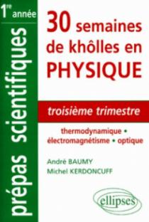 Troisième trimestre - Thermodynamique - Électromagnétisme - Optique