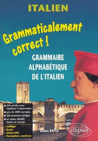 Grammaire alphabétique de l'italien