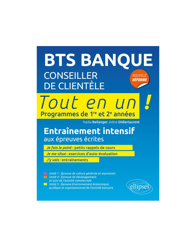 BTS Banque • Tout en 1 examen final • Programme de 1re et 2e année • Entraînement intensif
