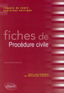 Fiches de Procédure civile. Rappels de cours et exercices corrigés