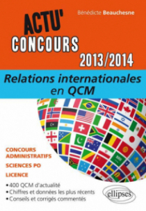 Relations internationales en QCM - 2013-2014