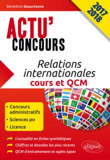 Relations internationales - cours et QCM - concours 2017-2018