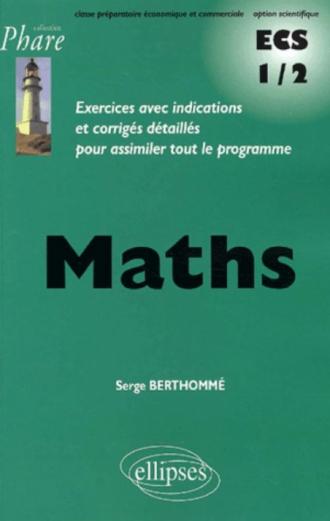 Mathématiques ECS 1/2