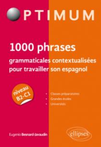 1000 phrases grammaticales contextualisées pour travailler son espagnol (niveau B2-C1)