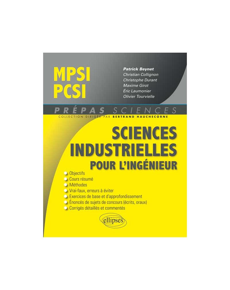Sciences industrielles pour l'ingénieur MPSI - PCSI