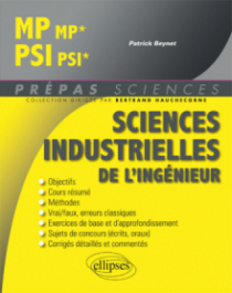 Sciences industrielles de l'ingénieur MP/MP* - PSI/PSI*