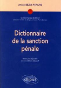 Dictionnaire de la sanction pénale