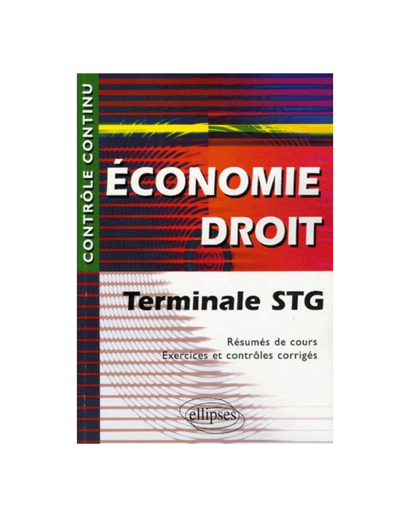 Économie - Droit - Terminale STG