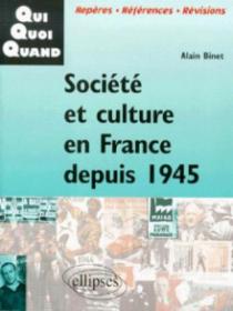 Société et culture en France depuis 1945
