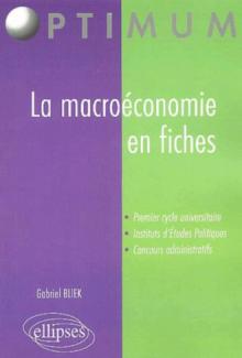 La macroéconomie en fiches