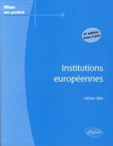 Institutions européennes - 2e édition