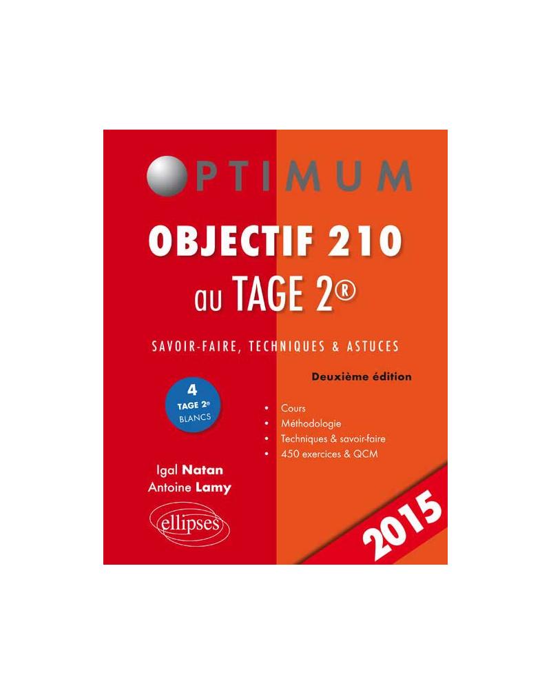 Objectif 210 au TAGE 2 - 2e édition