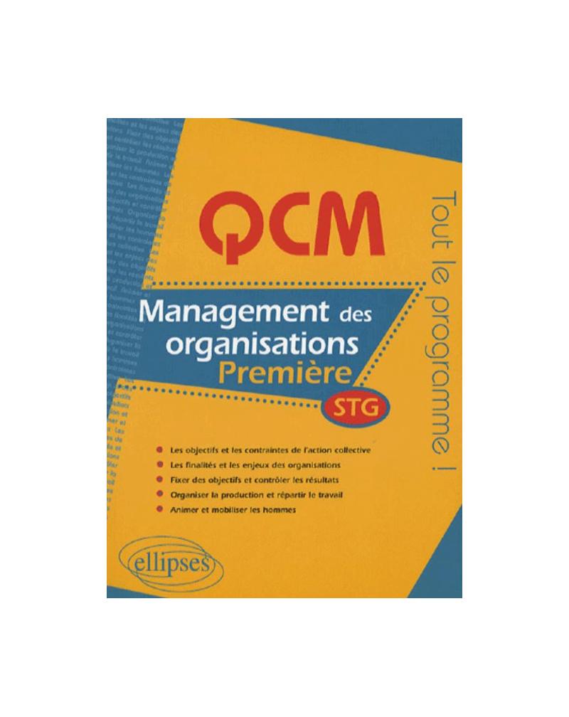 QCM management des organisations - Première STG