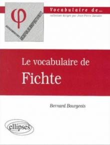 Le vocabulaire de Fichte