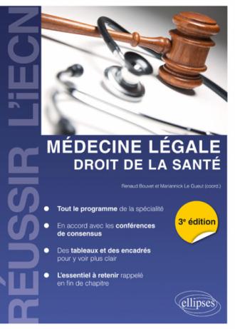 Médecine légale, droit de la santé - 3e édition