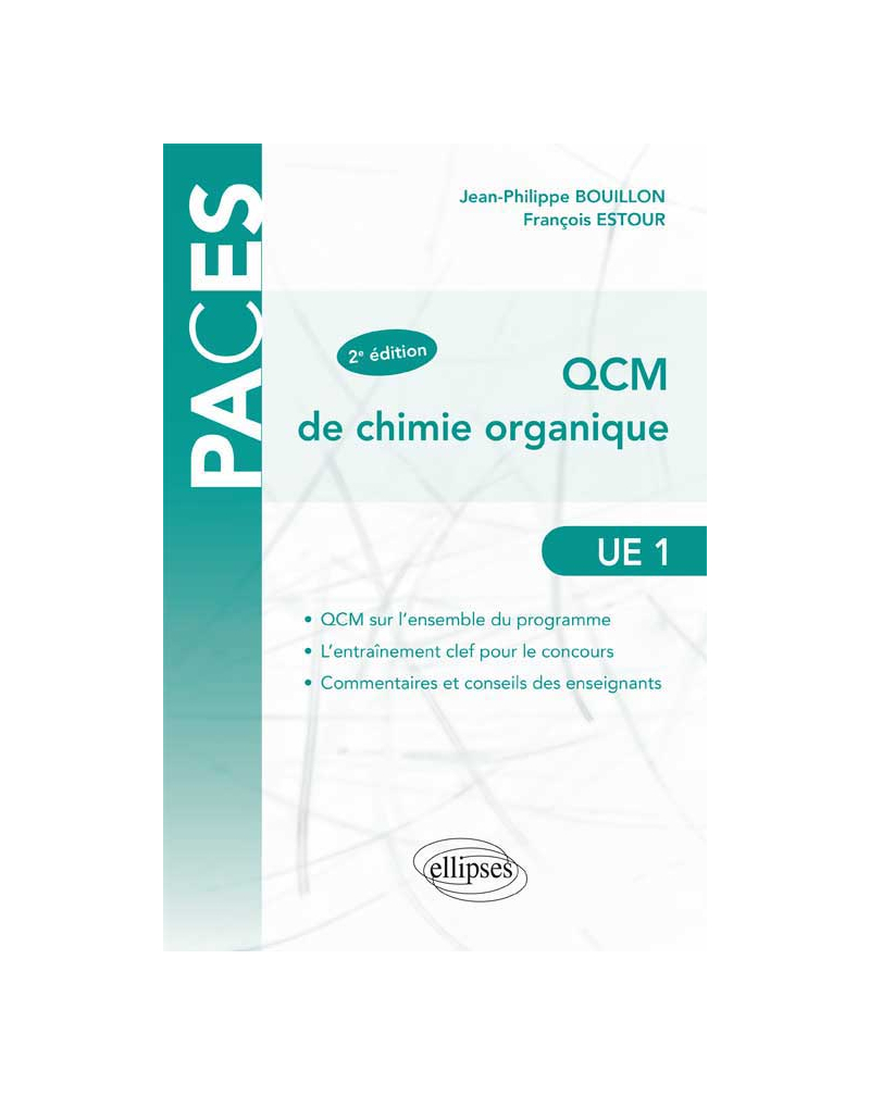 UE1 - QCM de chimie organique - 2e édition