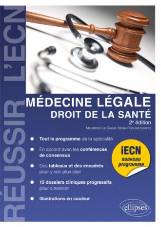 Médecine légale, droit de la santé - 2e édition