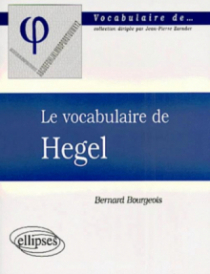 vocabulaire de Hegel (Le)