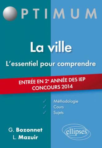 La ville -  entrée en 2e année des IEP - concours 2014