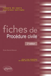 Fiches de Procédure civile. Rappels de cours et exercices corrigés - 2e édition