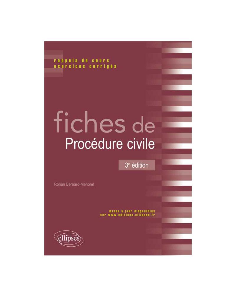 Fiches de Procédure civile. 3e édition
