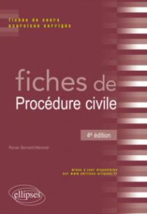 Fiches de Procédure civile - 4e édition