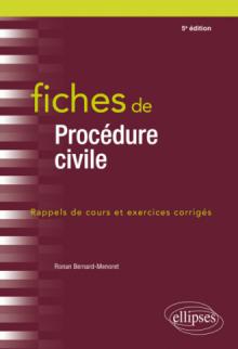 Fiches de procédures civiles - 5e édition