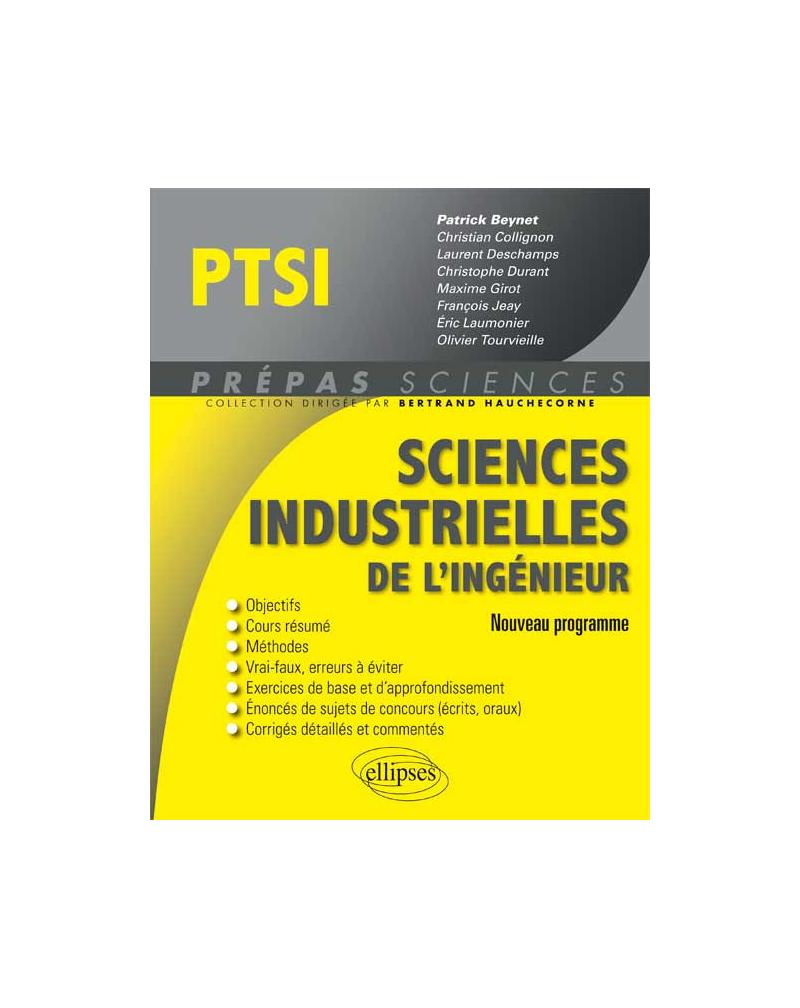 Sciences industrielles de l'ingénieur PTSI programme 2013