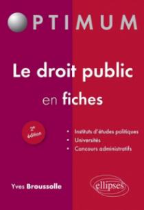 Le droit public en fiches - 2e édition