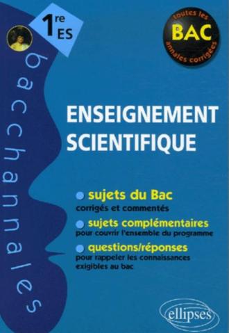 Enseignement scientifique - Première ES