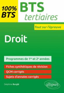 Droit - BTS Tertiaires - 1re et 2e années