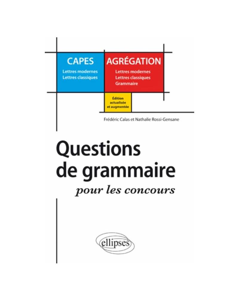 Questions de grammaire pour les concours - 2e édition