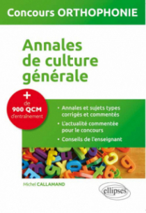 Annales de culture générale - concours orthophonie