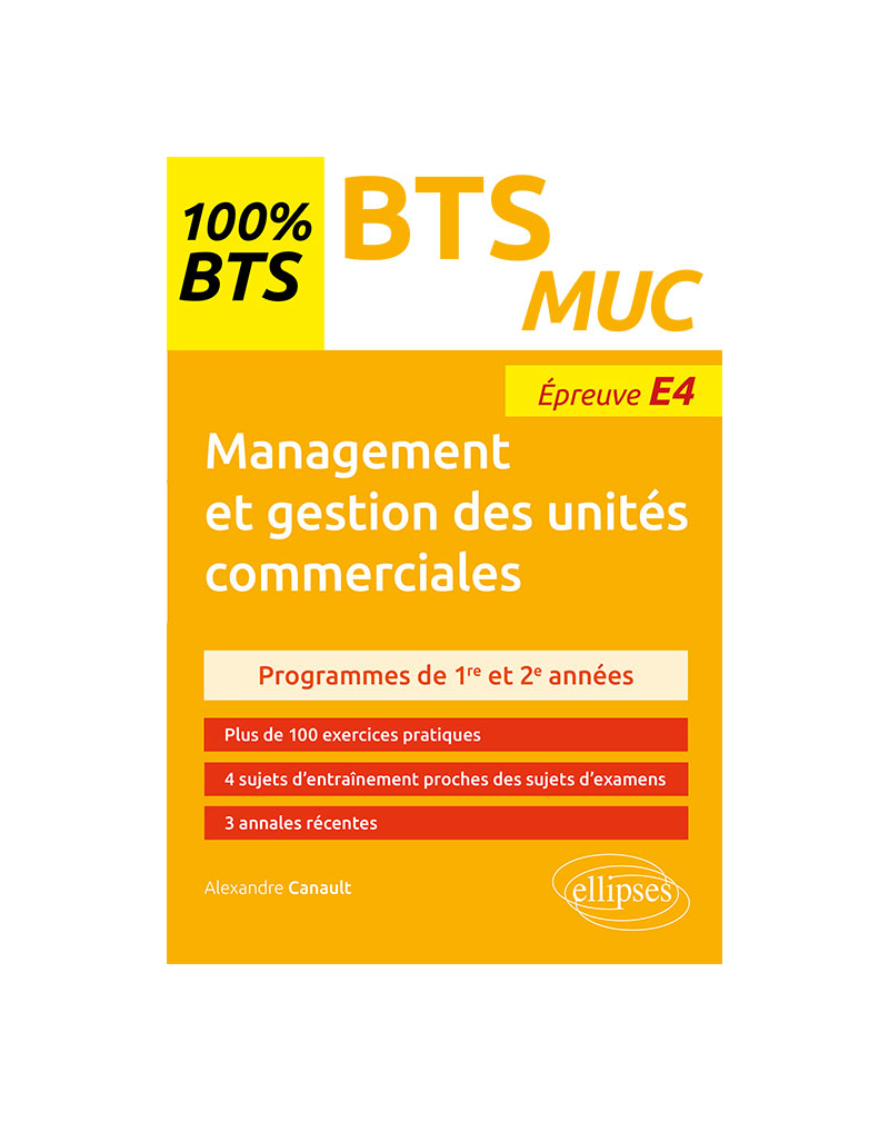 Management et gestion des unités commerciales - BTS MUC