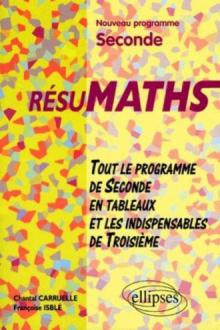 RESUMATHS - Tout le programme de la Seconde en tableaux et les indispensables de Troisième
