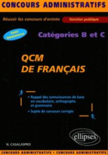 QCM de français - catégories B et C