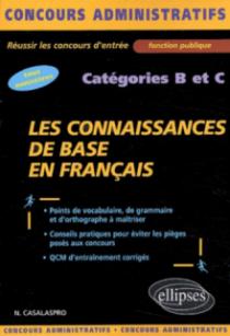 Les connaissances de base en français - catégories B et C