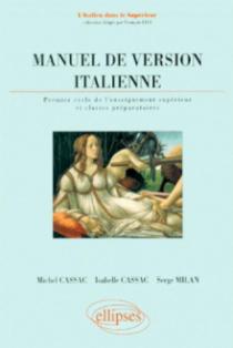 Manuel de version italienne - 1er cycle de l'enseignement supérieur et classes préparatoires