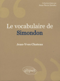 vocabulaire de Simondon (Le)