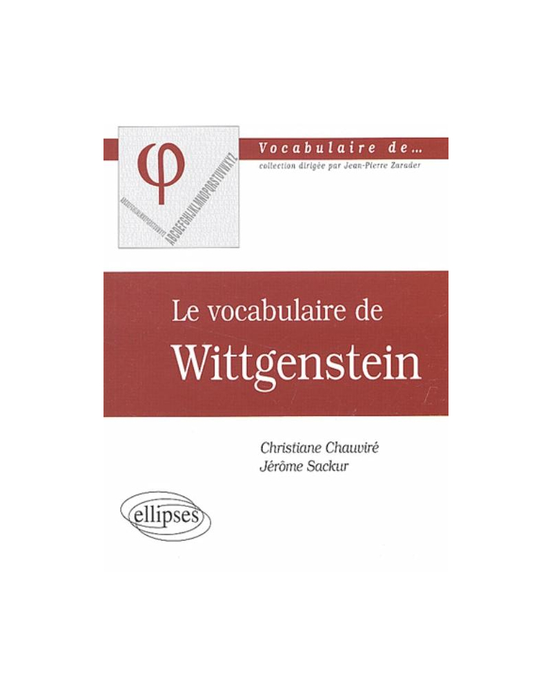 vocabulaire de Wittgenstein (Le)